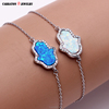 Wholesale High Quality Genuine 925 Sterling Silver Synthetic Opal Bracelet Opal Jewelry Supply