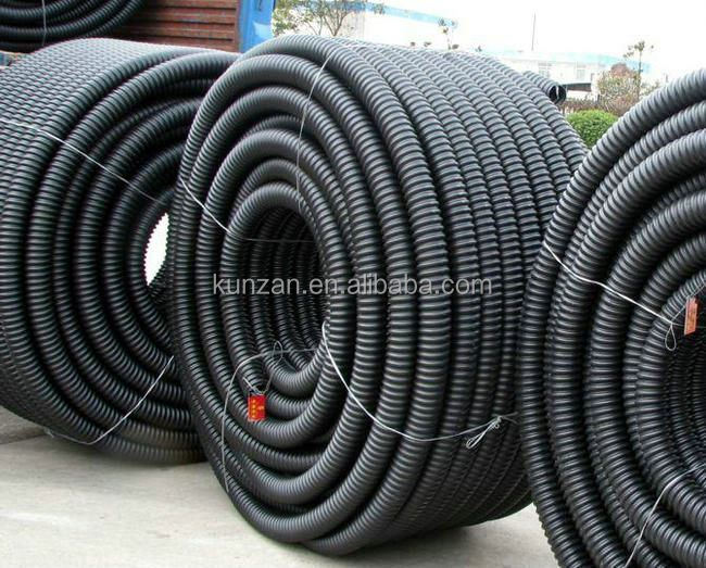 hdpe corrugated underground electric cable duct pipe