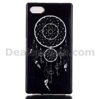 Lion Black Back Case TPU Soft Cover For Sony Xpearia Z5 Mini