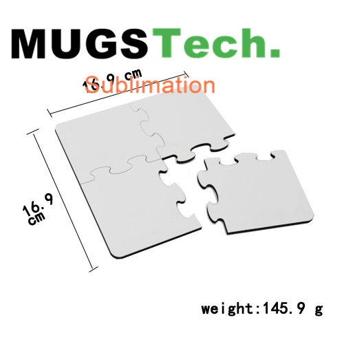Sublimation MDF Coaster Puzzle With Cork