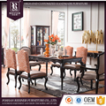 Customize antique french provincial dining room furniture , soild Wooden furniture upholstery fabric dining room sets