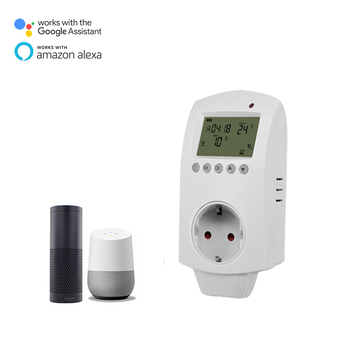 NEW LCD electrical plug in WIFI thermostatic controller socket Smart Alexa Echo GOOGLE HOME Compatible