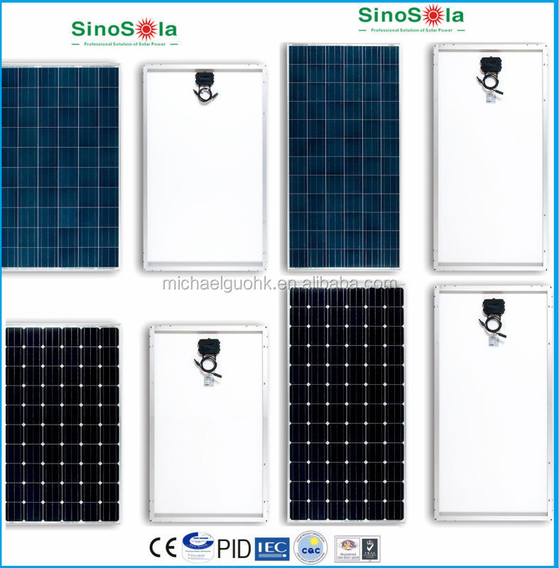 High Efficiency Solar Power Panel/High Quality PV Solar Module 2W to 340W Selectable
