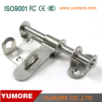 Factory sliding spring loaded hotel gate and locking stainless steel door knob latch