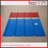 Baoshi Steel clear and lightweight corrugated prepainted galvanized roof tiles in cheap price
