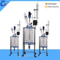 100L Jacketed glass fractional distillation unit