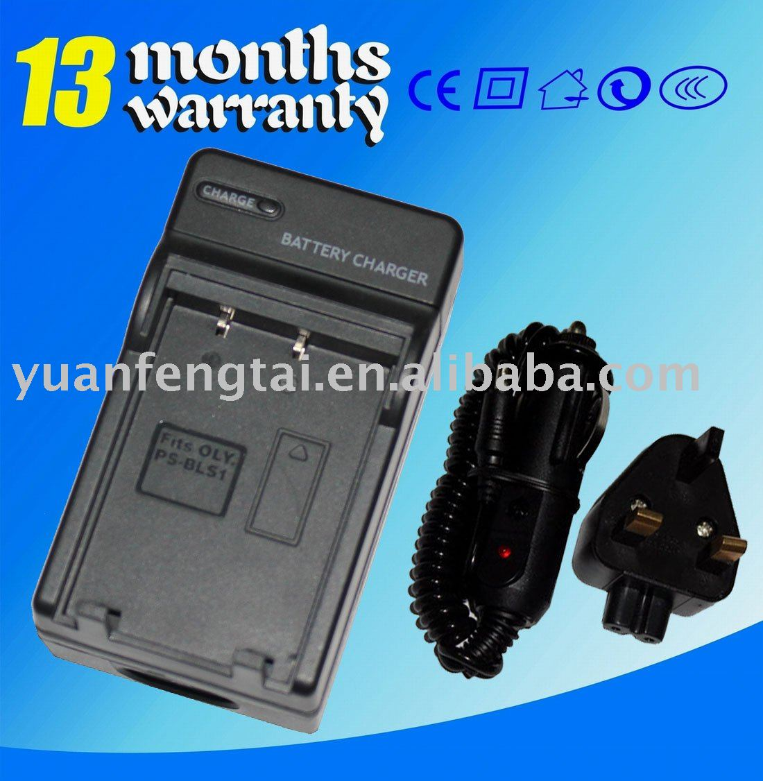Camera camcorder battery charger For Olympus BLS-1 PS-BLS1