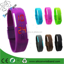 Factory Price Customized LED bracelet watch,reloj pulcera de silicon reloj de silicona barata