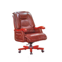 antique hotel high back leather swivel chair T0026
