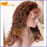 Human Hair Styling Lace Front Hair Wig Gorgeous Half Wigs Curly Extra Long Wig