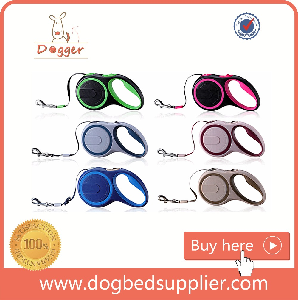 blue/Brown/Green/Plum/Pink dog waste bag retractable leash with long leads