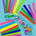 Pack of 150 Coloured Paper Chains Arts Crafts Christmas Decoration