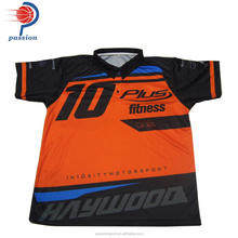 Wholesale custom racing pit crew shirt with polyester