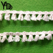 YQ-LC22 Retail and Wholesale 2cm Cotton Braid Lace Beige Pendant Fringe