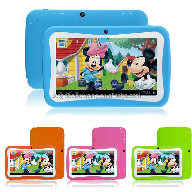 Colorful Kids Tablet7 Inch High Configuration 1024*600 Quad Core Android 4.4.2 Tablet PC android 4.2 Tablet Games Free Download