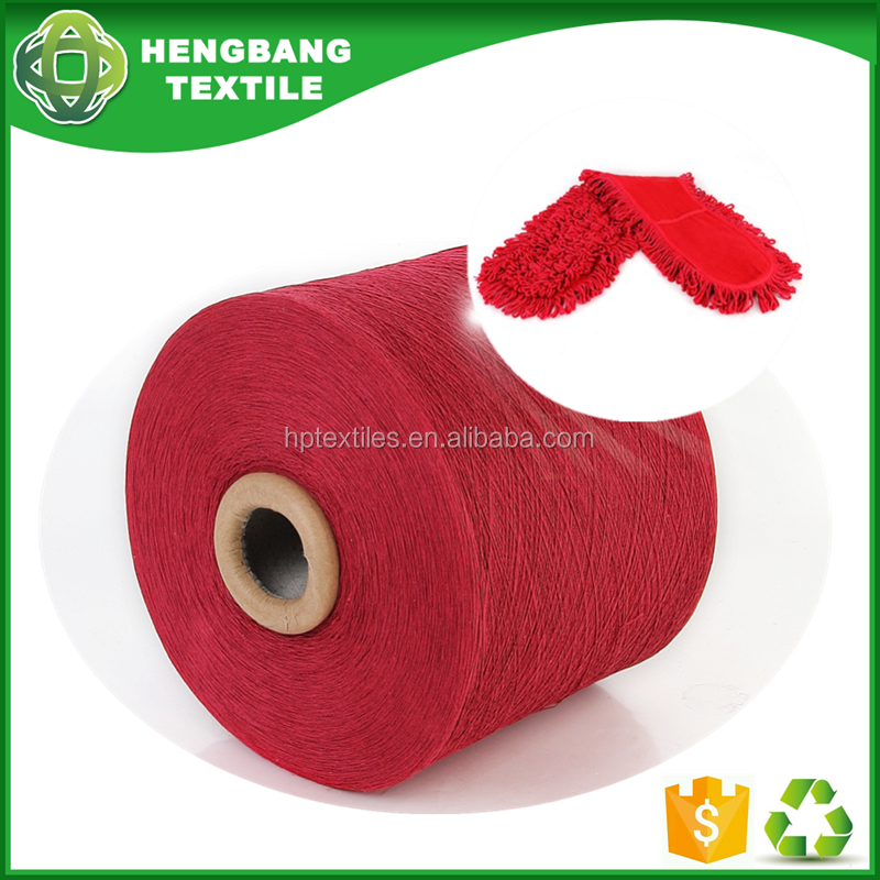 red mop blended polyester cotton yarn 50/50 regenerated sale manufacturer