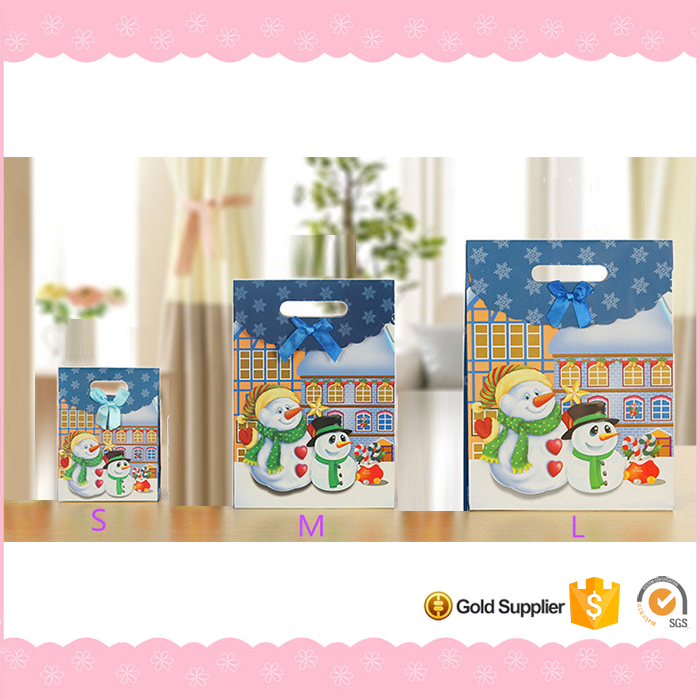 Wholesale promotional shopping christmas paper gift bag