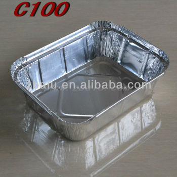 Newest!! disposable aluminium foil food containers C100