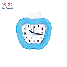 2017 Apple Shaped Beep Alarm Clock Children Liked Color/Logo Customized Cheap Plastic Desk Clock for Gift(3031)