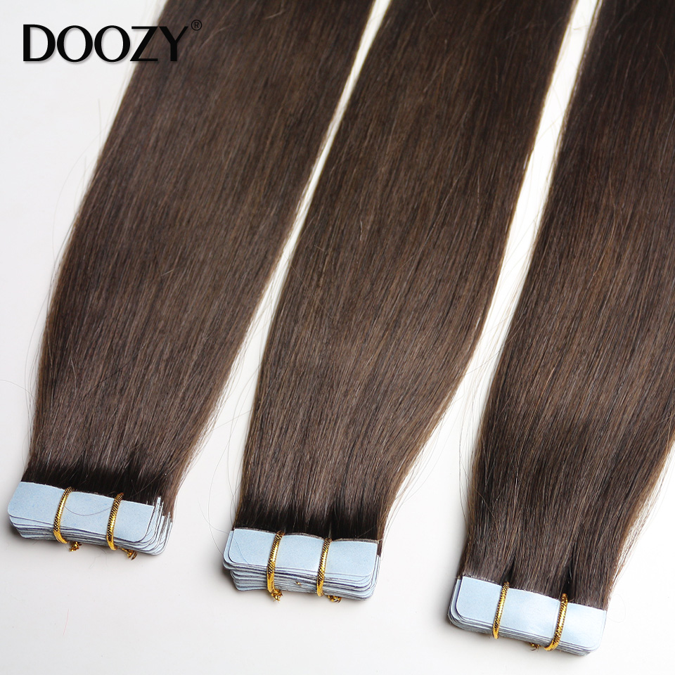 Skin weft virgin remy indian 26 inches tape human hair extensions