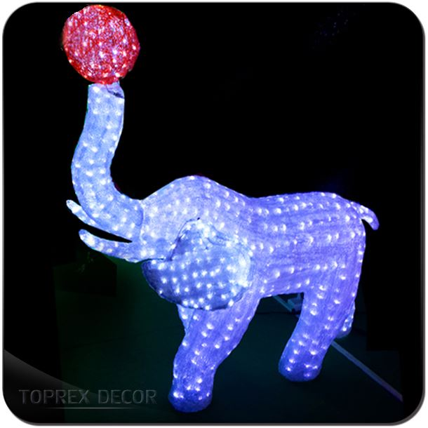 Excellent 3D Night Lamp Animals Elephant Shapes Cute Gift For Children