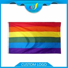 Wholesale Promotion Advertise Trade Show Custom Polyester Event Rainbow Flag