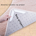 Hot promotional factory for sale carpet accessories anti slip adhesive washable mats