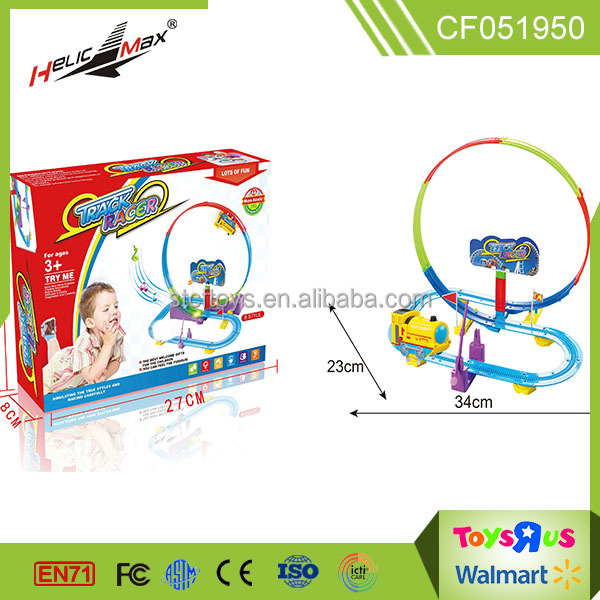 Best selling products 360 degree stereo rotation electric track racer toys for kids gift