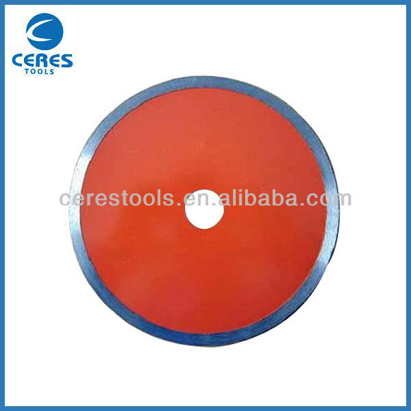 Continuous rim diamond saw blade,wet cutting