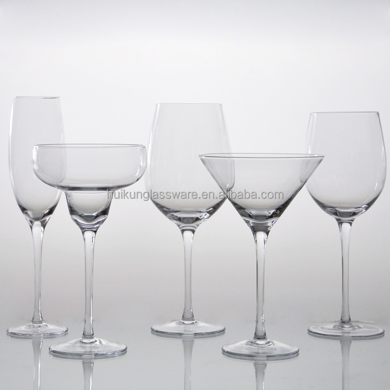 Hot Selling Mouth Blown Handmade Clear Wine Glassware