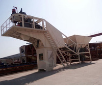 Easy move automatic mobile concrete batching plant for concrete mix