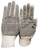 large size PVC dotted working hand gloves