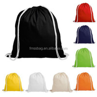 Durable Drawstring Sling Backpack Bag Canvas Drawstring Backpack With Cotton Rope Straps