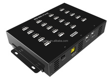 Sipolar 20 ports USB 2.0 hub for data syncs and charging with 20V 4.5A power supply