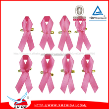 2015 Hot selling pink breast cancer awareness ribbon/pink ribbon pins wholesale