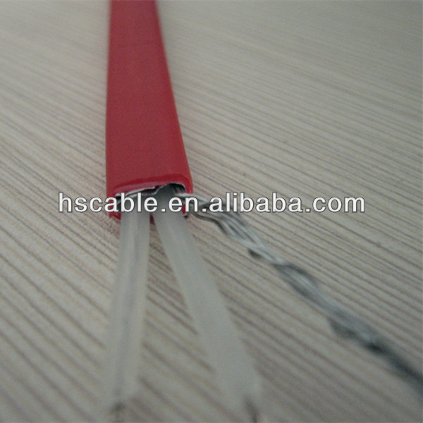 220V 18W Two Core XLPE Insulated Al Foil Shielded Heating Tracing Cable