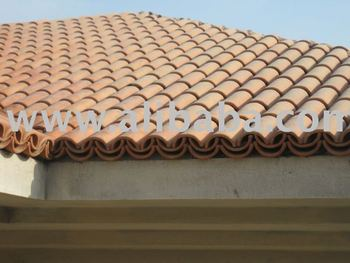 Curved Roof Tile 9""