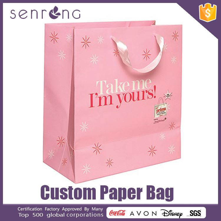 reinforced wine paper bag promotional paper bags with handles