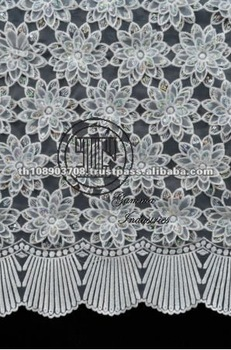 Thailand New Design Fashion Embroidered Lace