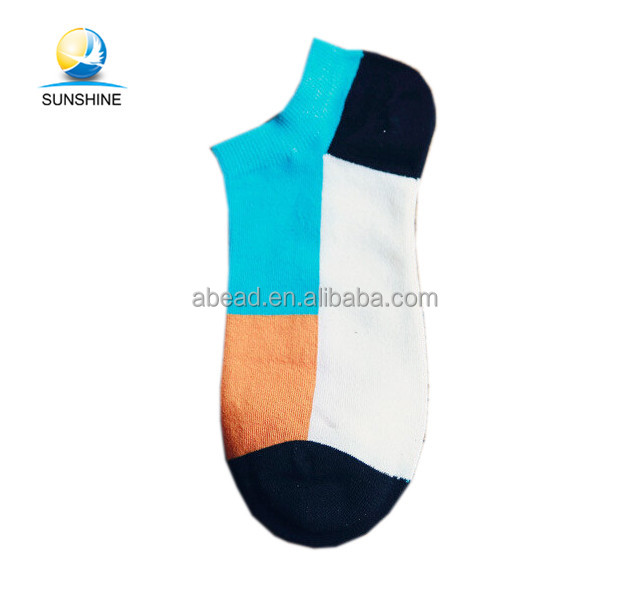 100% cotton knitted sport ankle socks for man