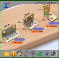 Furniture building 4 hole galvanized steel brackets for timber