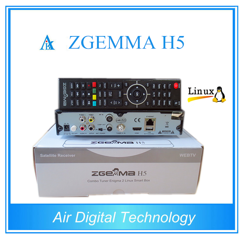 Full hd mpeg4 DVB-S2+ DVB-T2/C Combo digital satellite receiver with hevc h.265 ZGEMMA H5