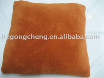 plain suede fabric cushion