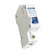 DZ47-63 C45N C Curve INTERRUPTION OF CAPACITY 5KA IEC 60898 MONOPOLAR BIPOLAR TRIPOLAR 35mm Din rail 18m Width Mini Disjuntor