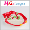 Ceramic Owl Plate Xmas Theme Tableware