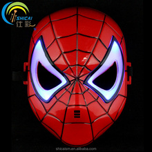 Luminous Spider-Man Cartoon Mask Anime Movie Theme Hero Mask Cosplay Children Party Dress Up Props