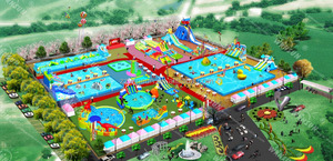 Adult cheap prices giant inflatable water park for sale