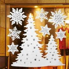 Christmas Series Snow Christmas Tree Pattern 3d wall sticker Self-adhesive Wall Sticker wall sticker printing machine