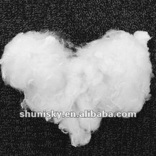 Raw white polyester synthetic fiber