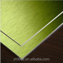 Brushed Aluminum Plastic Composite Panel for Wall Clading
